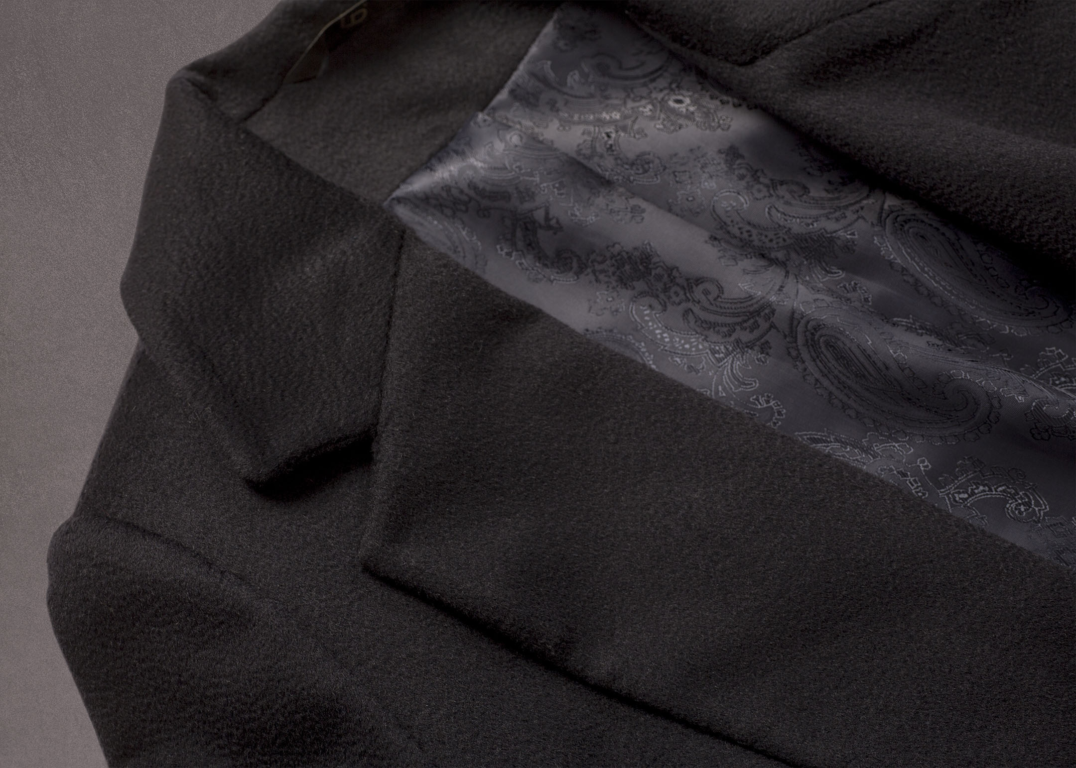 Meldes De Luxe – Manteau 100% cachemire fermeture croisée – Bleu nuit - Réf: 393-2-02