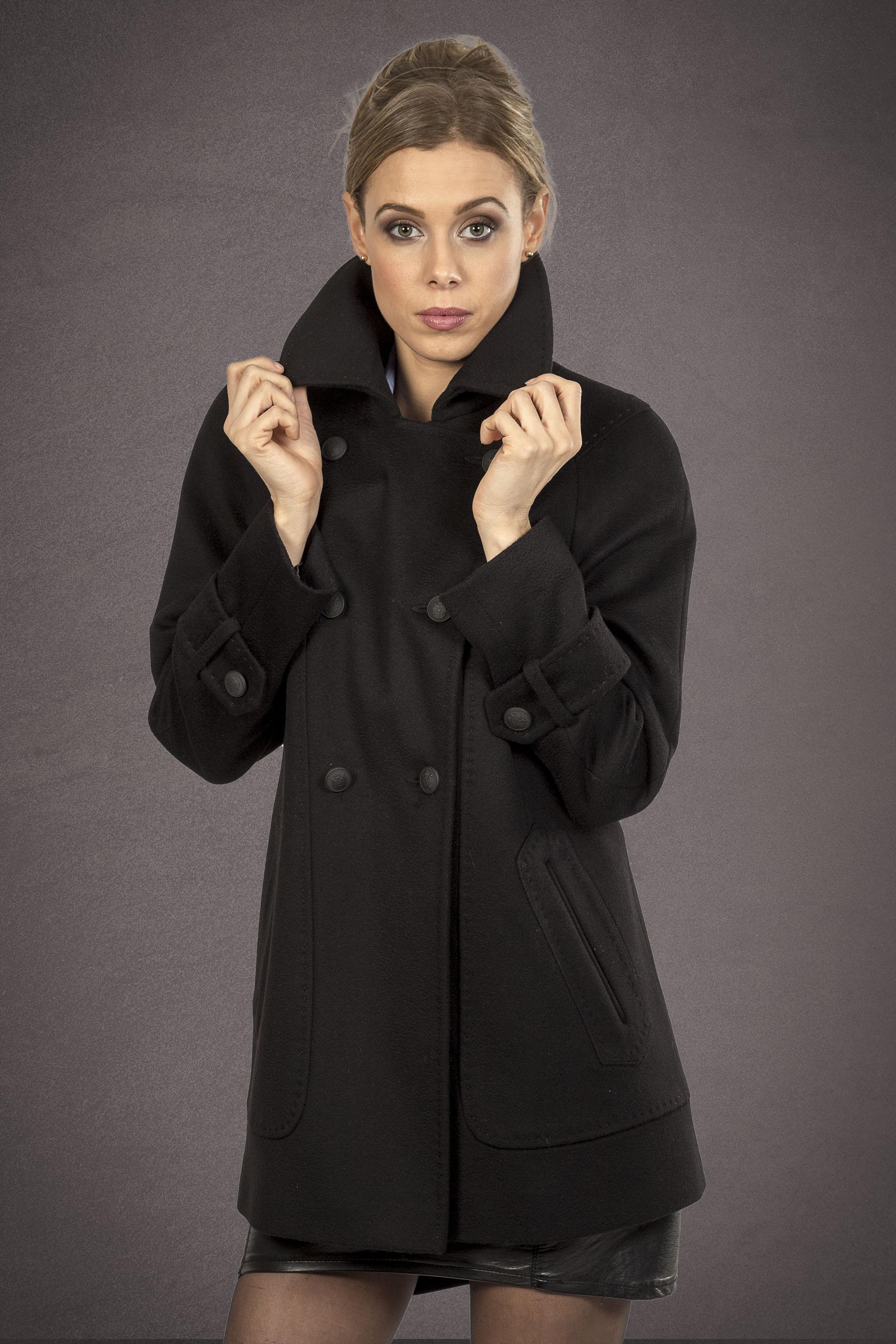 Meldes De Luxe – Short wool coat – Black - Ref: 457-1-01